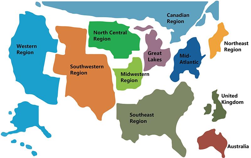 AME Regional Map