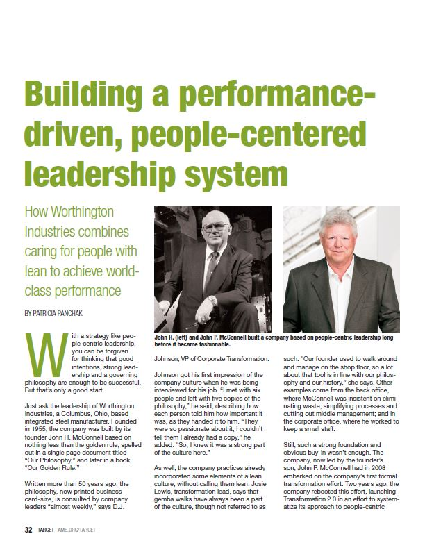 Building a performance-driven, people-centered leadership system