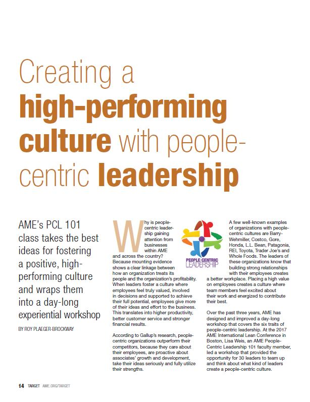 Creating a high-performance culture with people-centric leadership