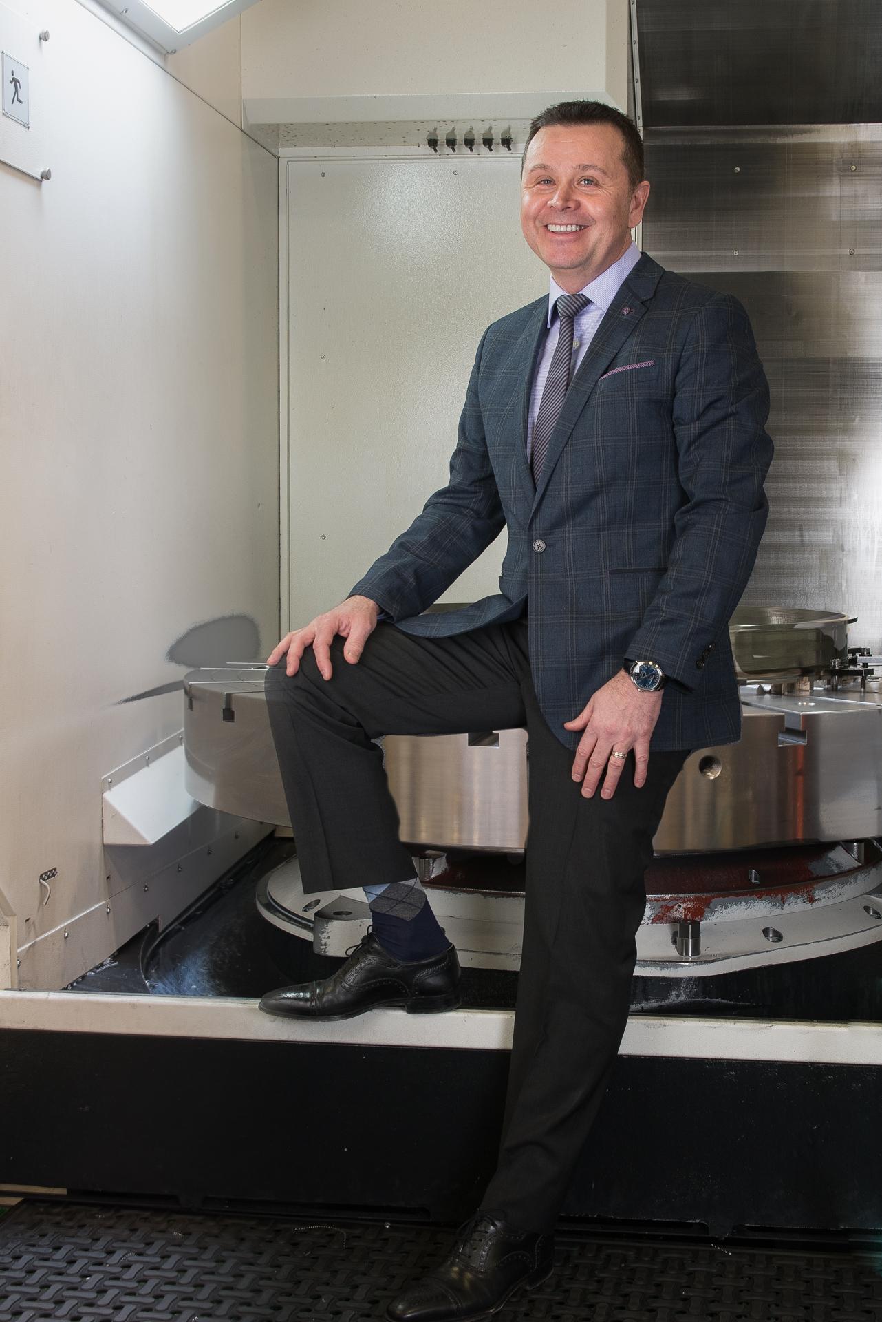 Chris Galik and 5-axis workcenter