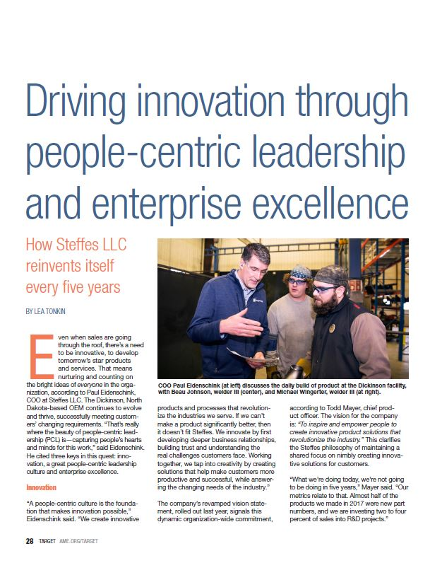 Driving innovation through people-centric leadership and enterprise excellence