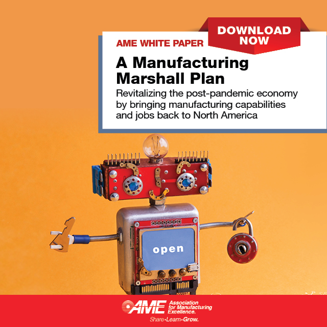 AME White Paper Manufacturing Marshall Plan Association for Manufacturing Excellence