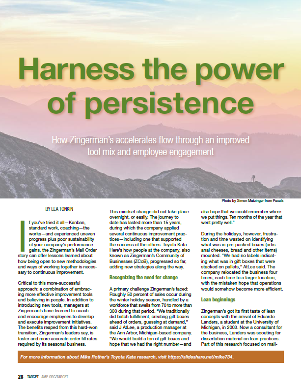 Harness the power of persistence - Target magazine
