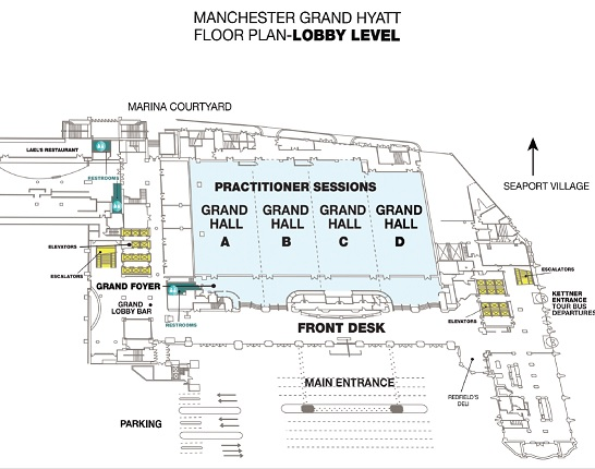 Manchester Grand Hyatt San Diego Map Conference maps | Association for Manufacturing Excellence